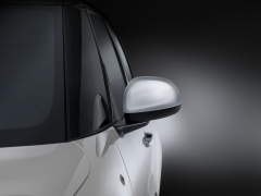 Set buitenspiegelkappen zilverkleur met omkaderd Technics-effect
