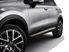 Beige zijafwerkingen voor portieren voor Fiat 500X