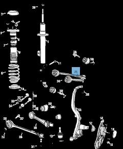 Schommelarm voor voorophanging boven voor Lancia Thema