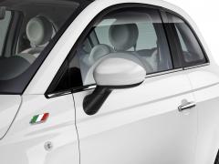 Spiegelkappen glanzend wit voor Fiat 500