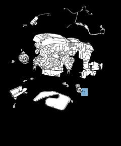Verstelbare riemspanner voor Jeep