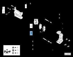 Remblok voor (set 4 stuks)