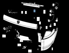 Achterlicht voor Lancia Voyager