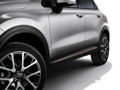 Bronskleurige zijafwerkingen voor portieren voor Fiat 500X