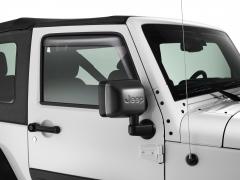 Ongelakte spiegelkappen met Jeep-logo