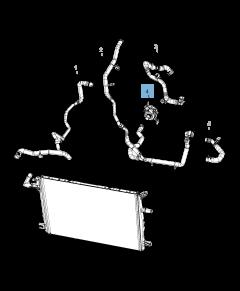 Waterpomp, extra koelsysteem voor Jeep Wrangler