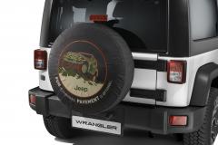 Bescherming voor reservewiel met afbeelding off-road
