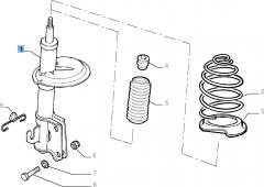 Voorste schokdemper 2 stuks - 2 stuks voor Fiat Professional Strada