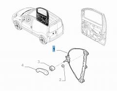 Elektrische raamopener rechtsvoor voor Fiat en Fiat Professional