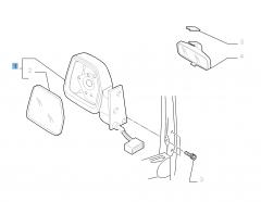 Elektrische linker buitenspiegel voor Fiat Professional Scudo
