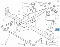 Achterste schokdemper voor vrachtwagens met open laadbak 2 stuks voor Fiat en Fiat Professional