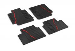 Rubberen vloermatten voor uitvoering 4x4