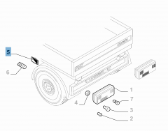 Parkeerlicht op laadbak voor Fiat en Fiat Professional