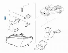 Koplamp rechtsvoor voor Fiat Professional Strada