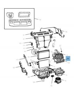 Luchtfilter interieur voor Lancia Voyager