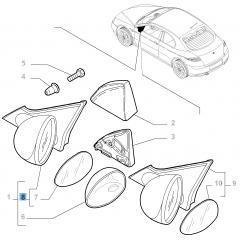 Rechter buitenspiegel, elektrisch, voor Alfa Romeo GT