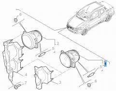 Mistlamp voor Fiat en Fiat Professional