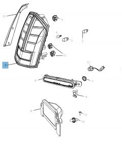 Achterlicht (buitenverlichting, remlicht en richtingaanwijzer) voor Lancia Thema