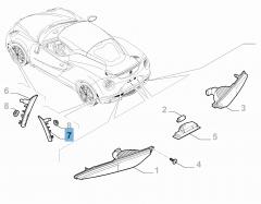 Zijdelingse richtingaanwijzer linksachter voor Alfa Romeo 4C
