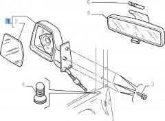 Handbediende linker buitenspiegel voor Fiat Professional Scudo