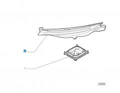 Linker koplamp zonder regelmodule DRL