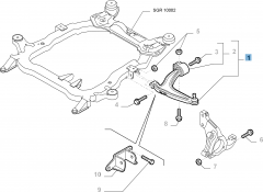 Linker schommelarm voor Fiat en Fiat Professional