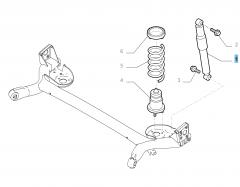Schokdemper rechts voor Fiat en Fiat Professional
