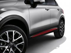 Rode zijafwerkingen voor portieren voor Fiat 500X