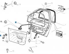 Handbediende raamopener linksvoor voor Fiat en Fiat Professional