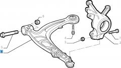 Linker schommelarm voor voorophanging