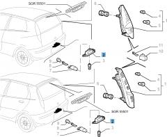 Kentekenplaatverlichting voor Fiat en Fiat Professional