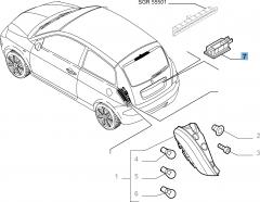 Kentekenplaatverlichting voor Lancia