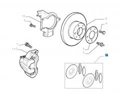 Kit remblokken en schijven bestaande uit 2 schijven en 1 set remblokken voor Fiat Seicento